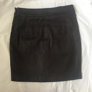 Alexander Wang Burgundy Leather Skirt